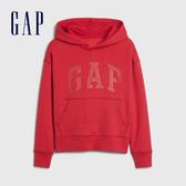 Gap男童 Logo簡約字母連帽休閒上衣 615926-紅色