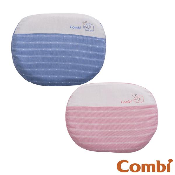 【愛吾兒】Combi 康貝 和風紗透氣護頭枕-藍/粉(71028/71029)