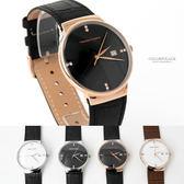 范倫鐵諾˙古柏 四方鑽皮革錶 柒彩年代【NEV21】