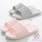 2雙裝 鏤空浴室拖鞋居家情侶室內漏水洗澡涼拖鞋【櫻田川島】