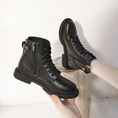 馬丁靴女2020秋冬新款黑色厚底短靴英倫風帥氣百搭機車靴網紅靴子