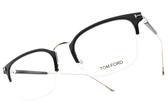 TOM FORD 光學眼鏡 TF5611 001 (黑-玫瑰金) 時尚教主雙色造型眉頭款 # 金橘眼鏡