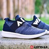 【AIRWALK】高彈力釋壓休閒鞋-深藍-女款