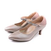HUMAN PEACE 尖頭 低跟鞋 水鑽 粉紅色 女鞋 073515CB no343