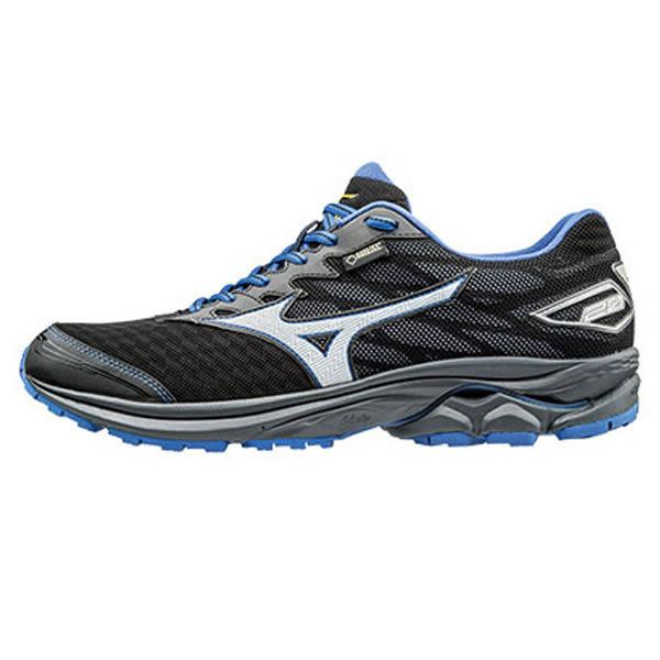Mizuno Wave Rider 20 美津濃 男 黑 藍 戶外慢跑鞋 路跑鞋 運動鞋 GORE-TEX 防水透氣 J1GC177403