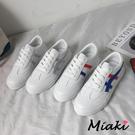 休閒鞋-經典運動風格厚底小白鞋