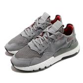 【海外限定】adidas 休閒鞋 Nite Jogger 灰 紅 反光 男鞋 Boost 中底 運動鞋 【ACS】 EE5869