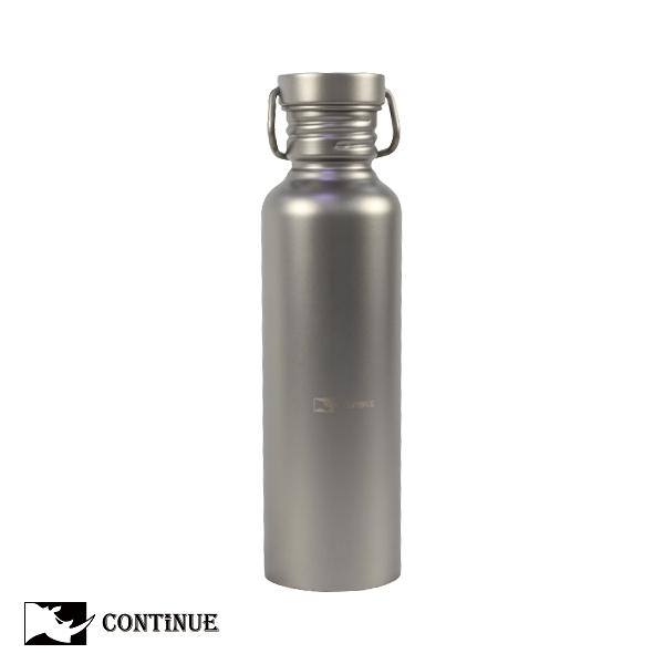 CONTINUE 純鈦單層運動水壺720ml(附贈保溫袋)