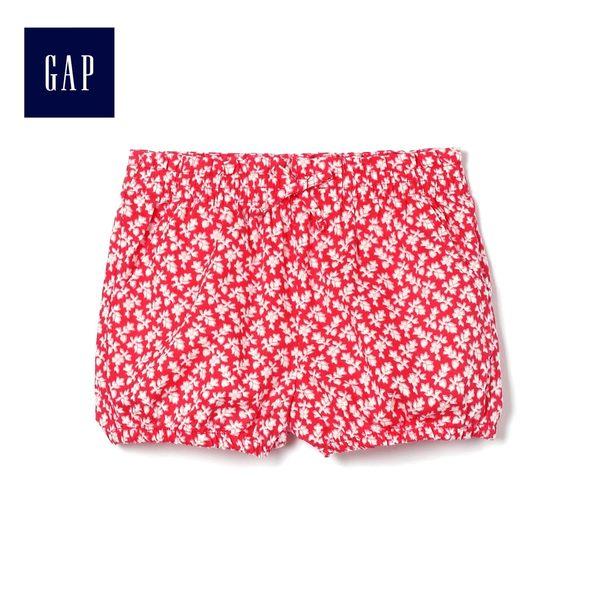 Gap女嬰幼童 印花舒適休閒短褲 461368-摩登紅色