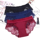 促銷特價# 女士內褲襠夏薄款中腰女式三角性感蕾絲大碼無痕女生冰絲內褲