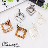 耳環 現貨 韓國氣質獨特個性幾何菱形垂墜耳環 夾式耳環 S93314 批發價 Danica 韓系飾品