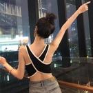 夏裝韓版chic修身美背交叉背心吊帶女學生休閒內搭外穿露背上衣潮