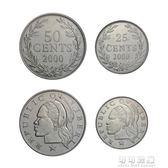 文化紀念幣  【非洲】外國硬幣利比裡亞硬幣2枚一套2000年全新未流通外幣可可鞋櫃