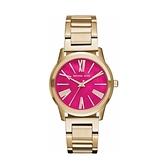 【Michael Kors】美式經典羅馬時標氣質腕錶-桃粉金/MK3520/台灣總代理公司貨享兩年保固