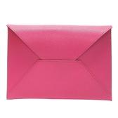 HERMES 愛馬仕 L3 玫瑰紫山羊皮信封手拿包 (附2個拉鍊小袋)Envelope Trio