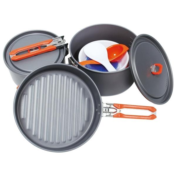[好也戶外]RHINO犀牛 三人豪華套鍋Cooking Set NO.K-23