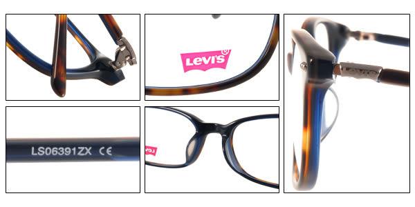 LEVIS 光學眼鏡 LS06391ZX YDEM (琥珀-深藍) 簡約知性百搭款 # 金橘眼鏡