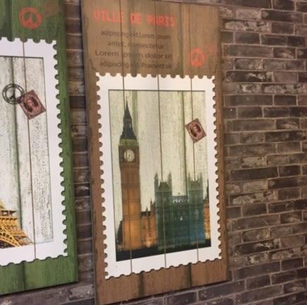 [協貿國際]美式鄉村復古木板畫壁飾1入