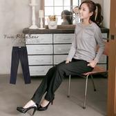 搖粒絨---銅釦素面搖粒絨完美版型低腰小直筒牛仔褲(黑XL-7L)-N94眼圈熊中大尺碼