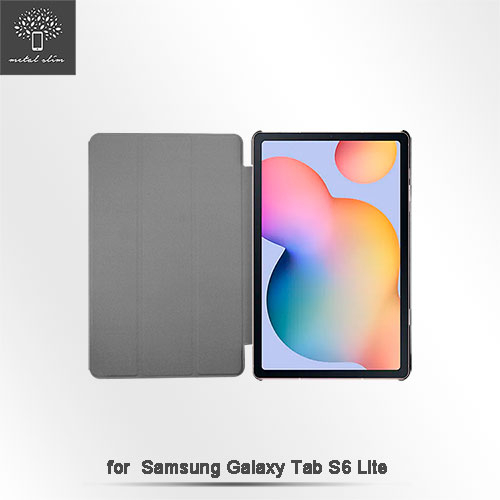 快速出貨 Metal-Slim Samsung Tab S6 Lite 三折站立 磁吸側掀皮套 SM-P610