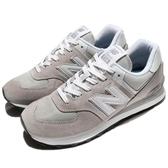 New Balance 574 系列 灰 白 麂皮 男鞋 復古慢跑鞋 休閒鞋 【ACS】 ML574EGWD