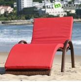 戶外躺椅戶外躺床陽臺庭院太陽床休閒沙灘椅海邊游泳池躺椅酒店躺椅LX爾碩數位