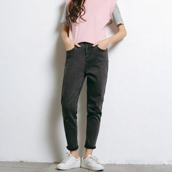 漫步生活☆[B72042] 灰黑百搭牛仔褲(27~32)
