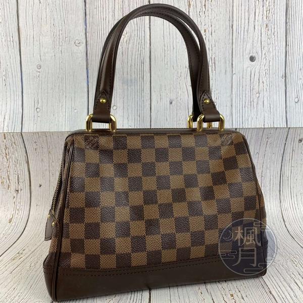 BRAND楓月 LOUIS VUITTON LV 路易威登 N51201 咖啡色棋盤KNIGHTSBRIDGE 手提包