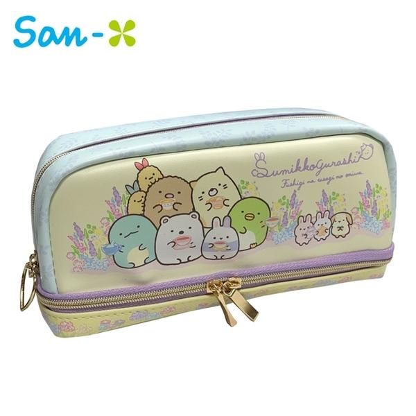 【日本正版】角落生物 兔子花園 皮質 雙層筆袋 鉛筆盒 筆袋 角落小夥伴 San-X 781381