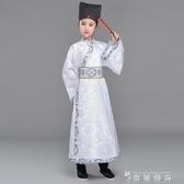 古裝漢服男童國學演出服小學生女童舞蹈服長袖表演服裝書童送帽子 時尚潮流