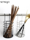 筷籠 筷子筒 掛式筷筒筷籠架壁掛式創意廚房收納盒餐具瀝水架【快速出貨八折鉅惠】