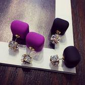 濃情 巧克力 豆珍珠 水晶 時尚 氣質 長款 韓國 韓版 耳夾 耳飾 耳環 耳釘女