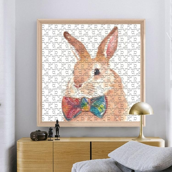 實木拼圖框1000片50*75拼圖框架裱框照片相框掛牆畫框裝裱框定制 青木鋪子「快速出貨」