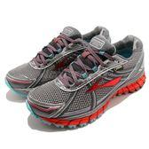【六折特賣】BROOKS 慢跑鞋 Adrenaline ASR 12 GTX 十二代 銀 橘 DNA動態避震 女鞋【PUMP306】 1201891B072