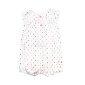 Carter s卡特 前扣式純棉蝴蝶袖兔子裝 白點點 | 女寶寶連身衣(嬰幼兒/兒童/小孩)