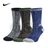 (特價) Nike SB長襪 SX4894-480藍/325綠/006灰 螺紋 木紋