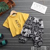 男童夏裝新款套裝男寶寶夏季童裝小童帥氣兒童男孩潮衣兩件套可卡衣櫃