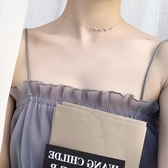 心電圖項女氣質正韓極簡約學生短款鎖骨脖頸飾品 【父親節秒殺】