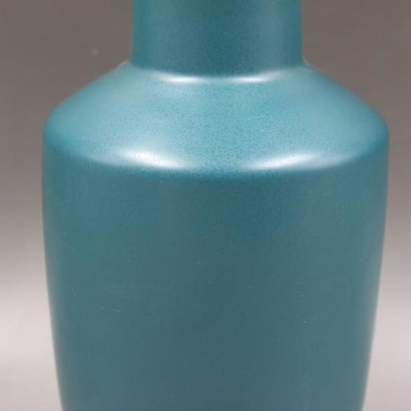大清雍正年制孔雀綠釉棒槌瓶仿古老貨家居裝飾瓷器收藏古董古玩1入