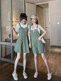 吊带裤-連身褲裙2020新款時尚夏韓版寬鬆小清新減齡吊帶褲女可愛闊腿短褲