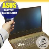 【Ezstick】ASUS GL504 G504GM 靜電式筆電LCD液晶螢幕貼 (可選鏡面或霧面)