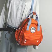實拍韓版2019新款牛津布小雙肩包女撞色多用迷你小背包旅行包包ins潮居享優品