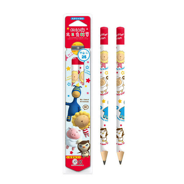 奶油獅學齡前鉛筆4支入(盒裝)