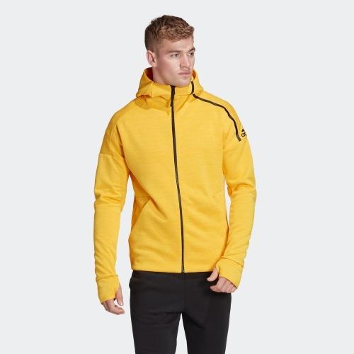 Adidas Z.N.E. FAST RELEASE 男裝 外套 連帽 慢跑 休閒 排汗 黃【運動世界】EB5232