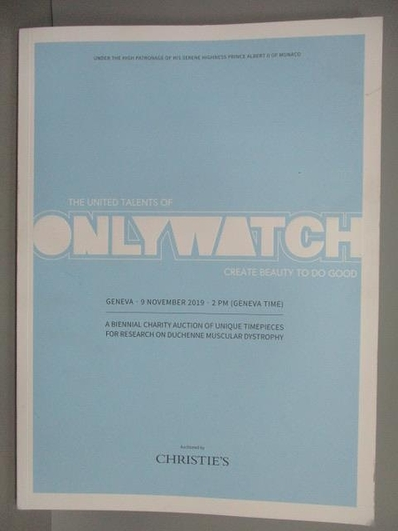 【書寶二手書T4/收藏_ES1】ONLYWATCH_2019_Charity Auction of…