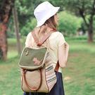 日韓校園兩用雙肩帆布包 英倫復古學生書包 學院風大學生時尚潮背包