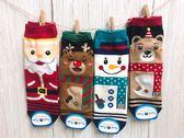 韓國進口長襪 聖誕節襪子 聖誕老公公 麋鹿 雪人