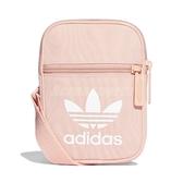 adidas 斜背包 Trefoil Festival 粉 白 男女款 運動休閒 三葉草【PUMP306】 DV2406