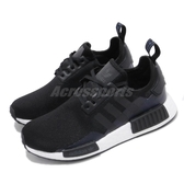 adidas 休閒鞋 NMD_R1 J 黑 深藍 白 大童鞋 女鞋 運動鞋 襪套式 【PUMP306】 EG7924
