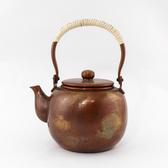 日本銅壺【島倉堂】棗型 配合金銅壺 0.9L 鎚起銅器傳統工藝士手工銅壺 銅茶具老茶壺